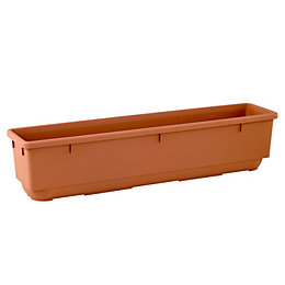 Plastic Terracotta Trough (H)20cm (L)89cm