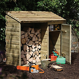 Pent Wooden Log & Tool Store 6X2
