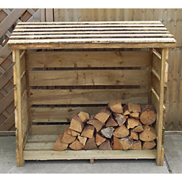 6X3 Pent Wooden Log Store