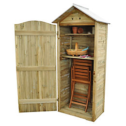 Outdoor Small Storage Shiplap Pressure Treated Reverse Apex