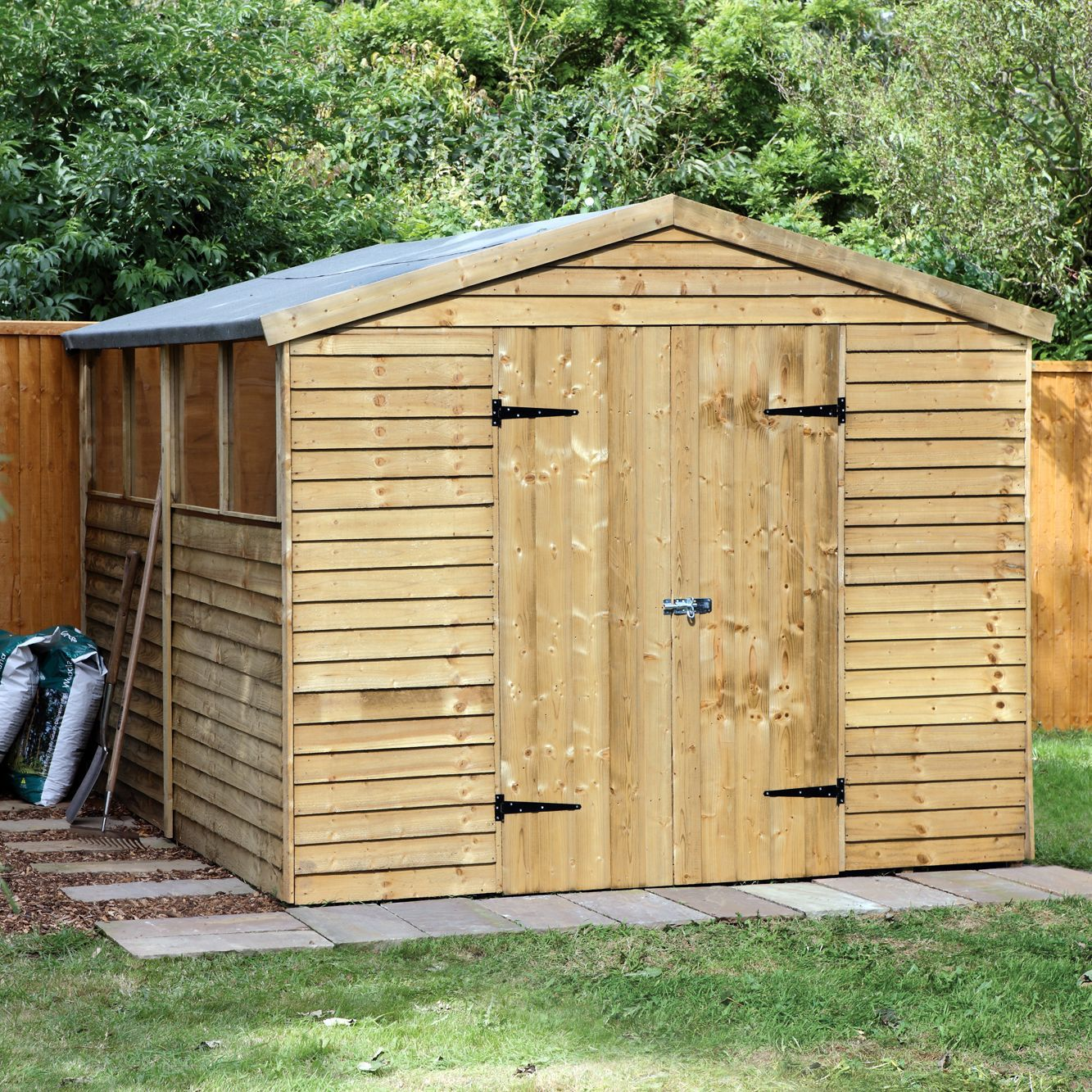 10x8 Larchlap Apex Overlap Wooden Shed Departments Diy