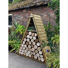 Pinnacle Shiplap Apex Wooden Log Store 5X2