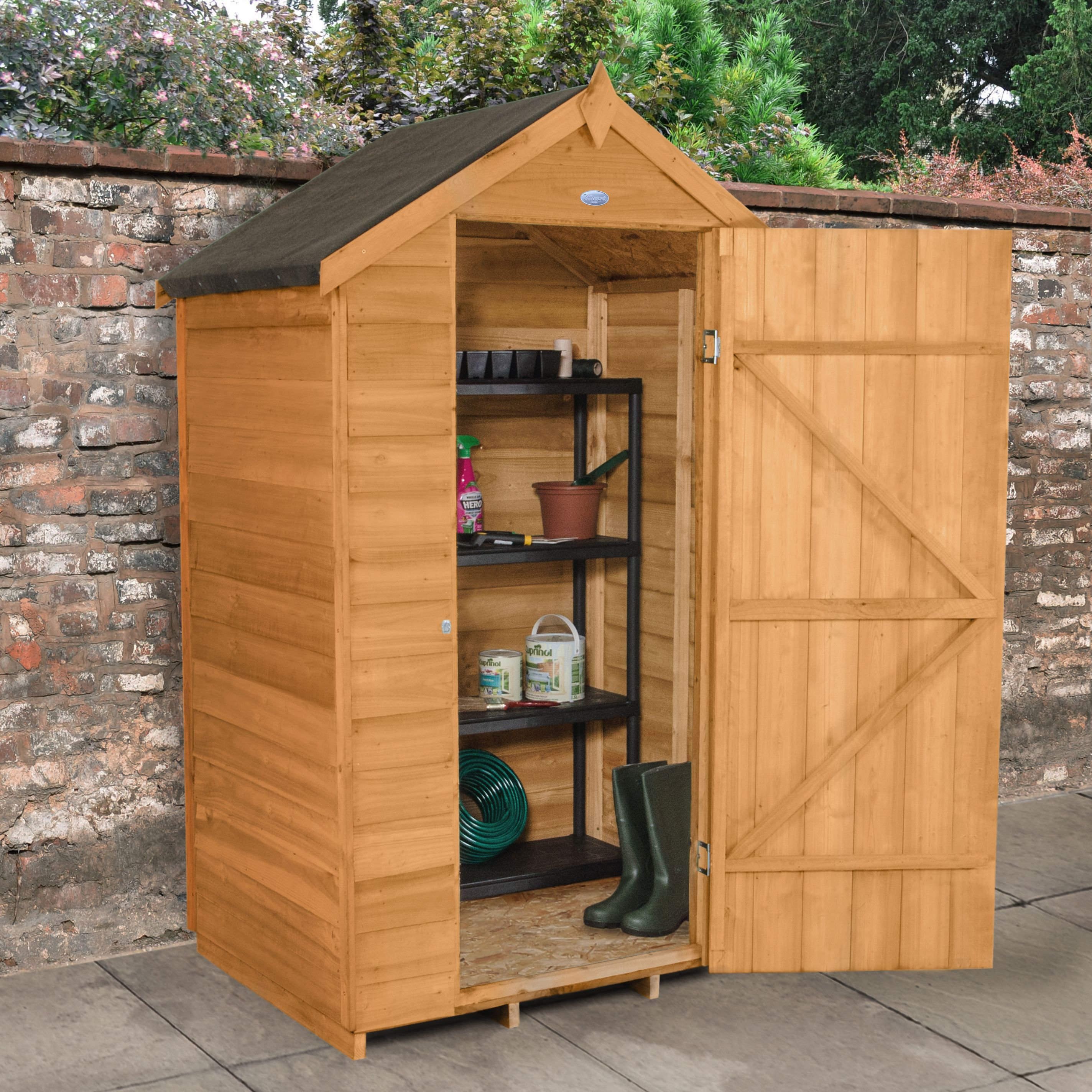 4X3 Apex Overlap Wooden Shed