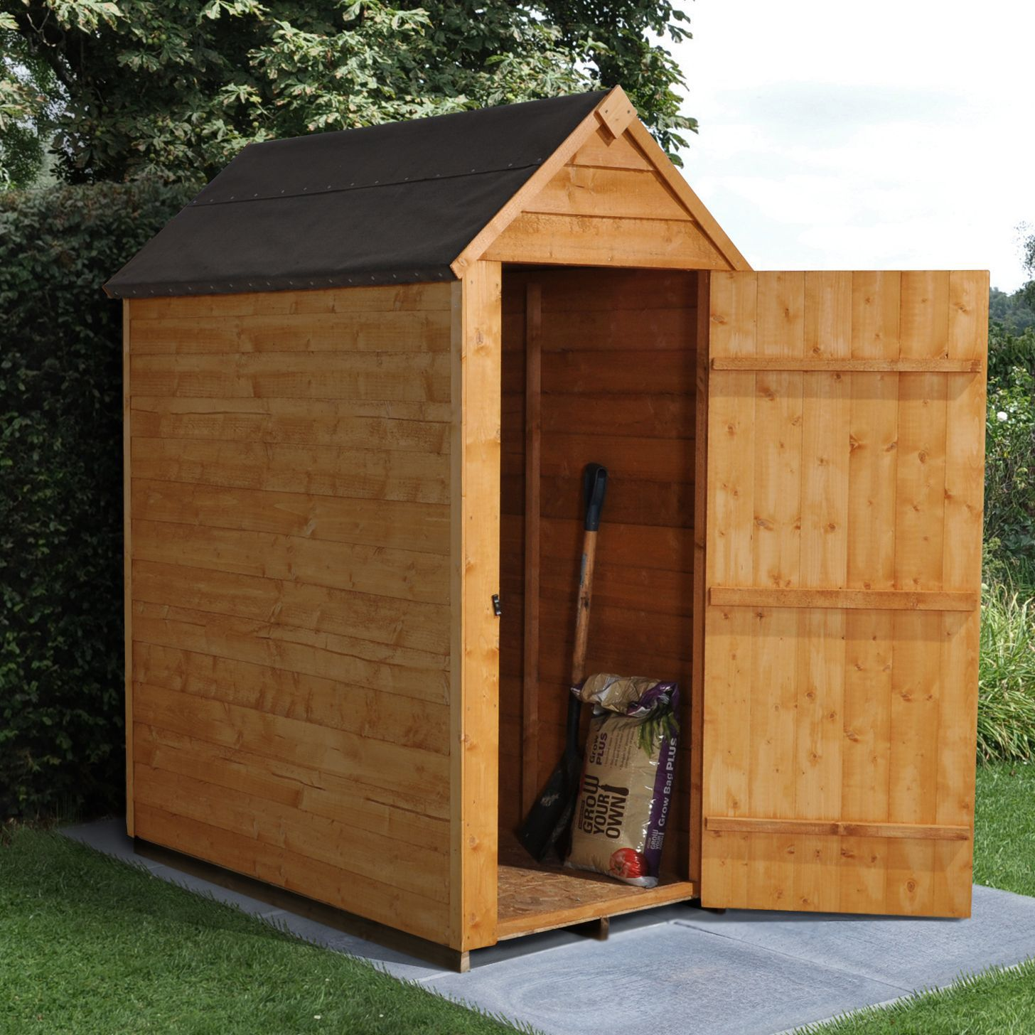 5x3 apex overlap wooden shed departments tradepoint