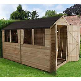 10X6 Forest Apex Overlap Wooden Shed