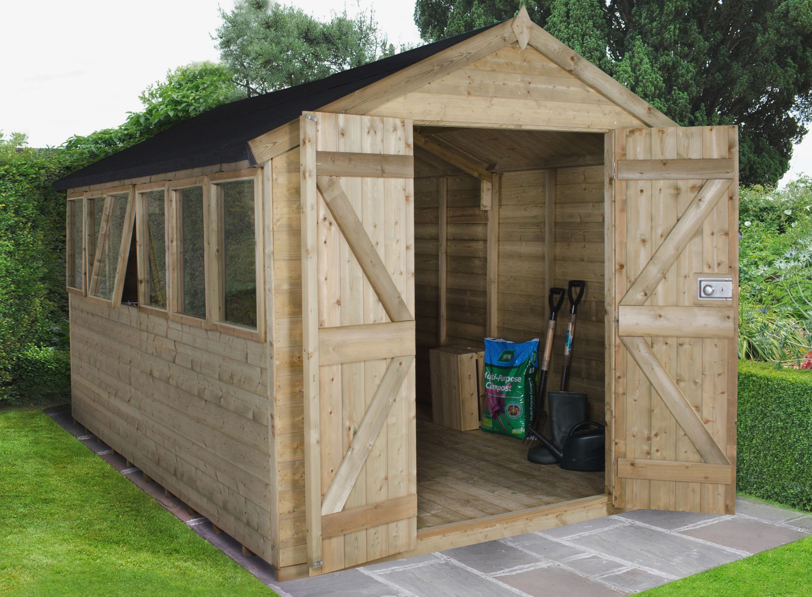 Buyer 39 s guide to sheds help ideas diy at b q for Round garden buildings