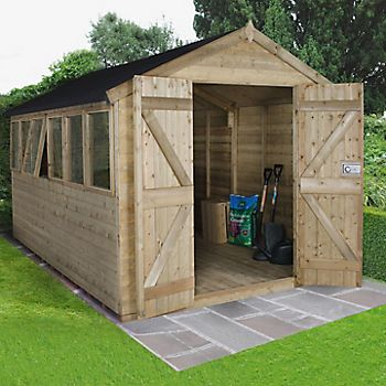 8X12 Apex Tongue & Groove Wooden Shed