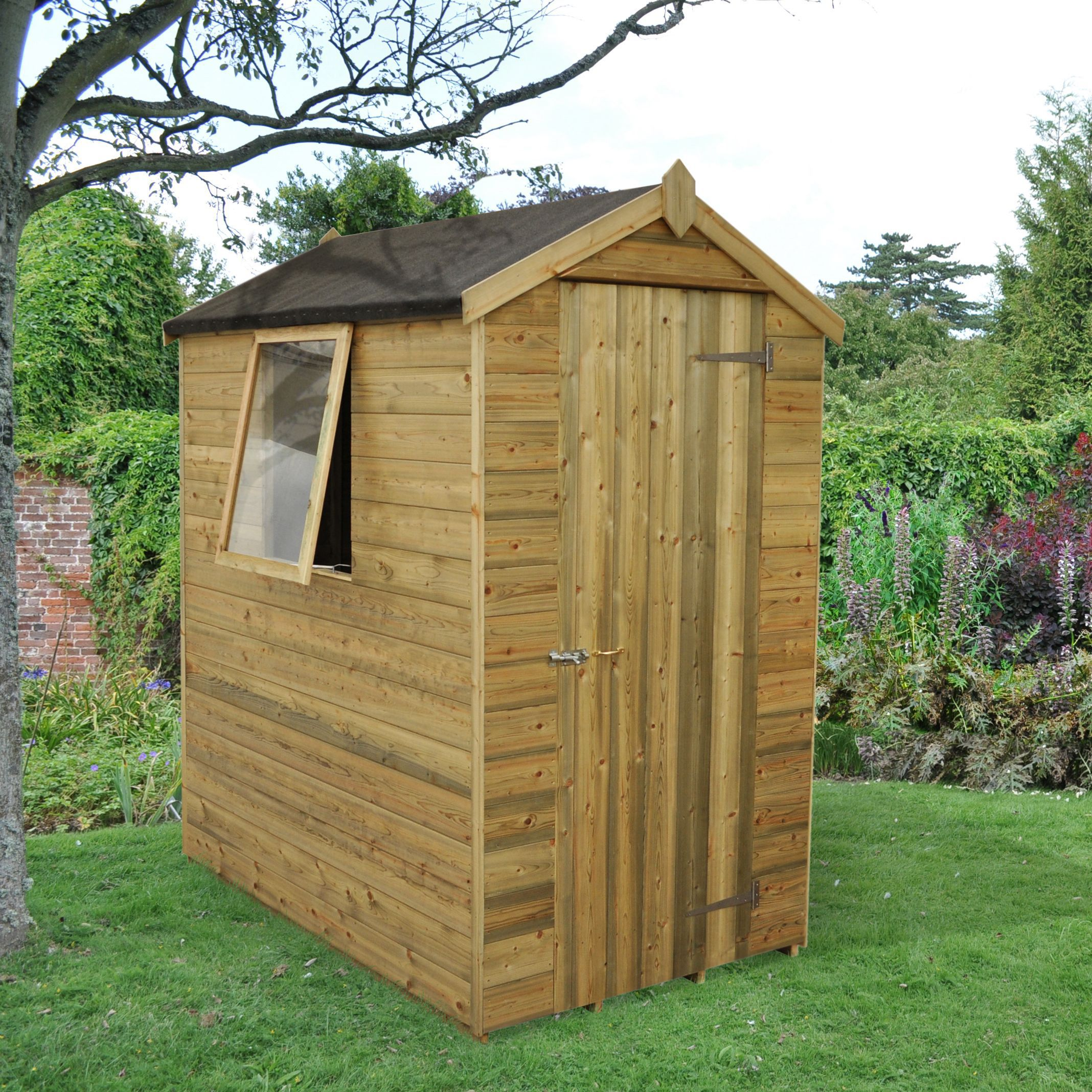 Diy At B Q: 6X4 Forest Apex Tongue & Groove Wooden Shed