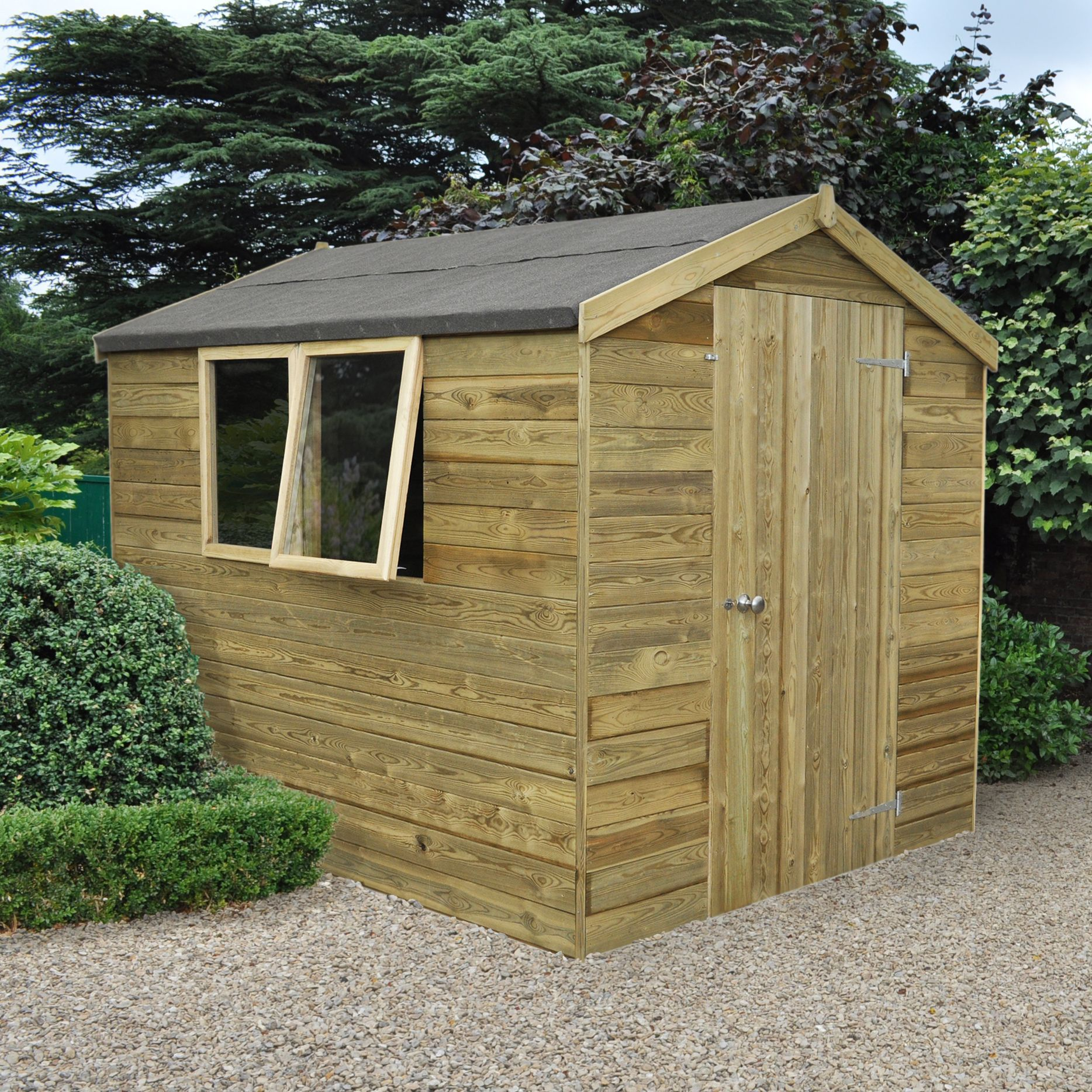 Tongue And Groove B And Q: 8X6 Forest Apex Tongue & Groove Wooden Shed