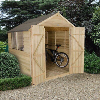 7 X7 Apex Overlap Wooden Shed Base Included