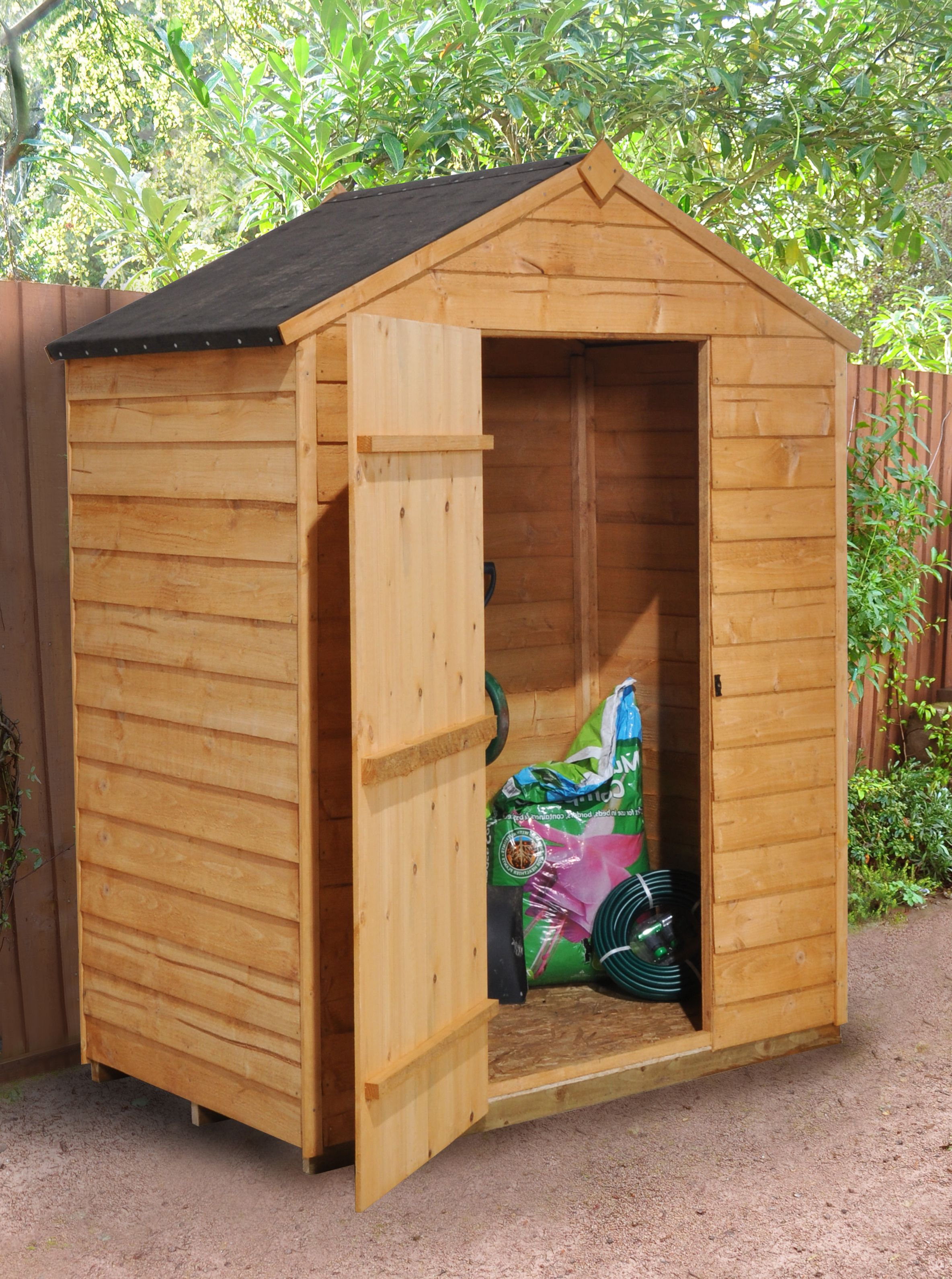 5x3 apex overlap wooden shed with assembly service for Garden shed 5x3