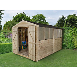 8X12 Apex Overlap Wooden Shed with Assembly Service