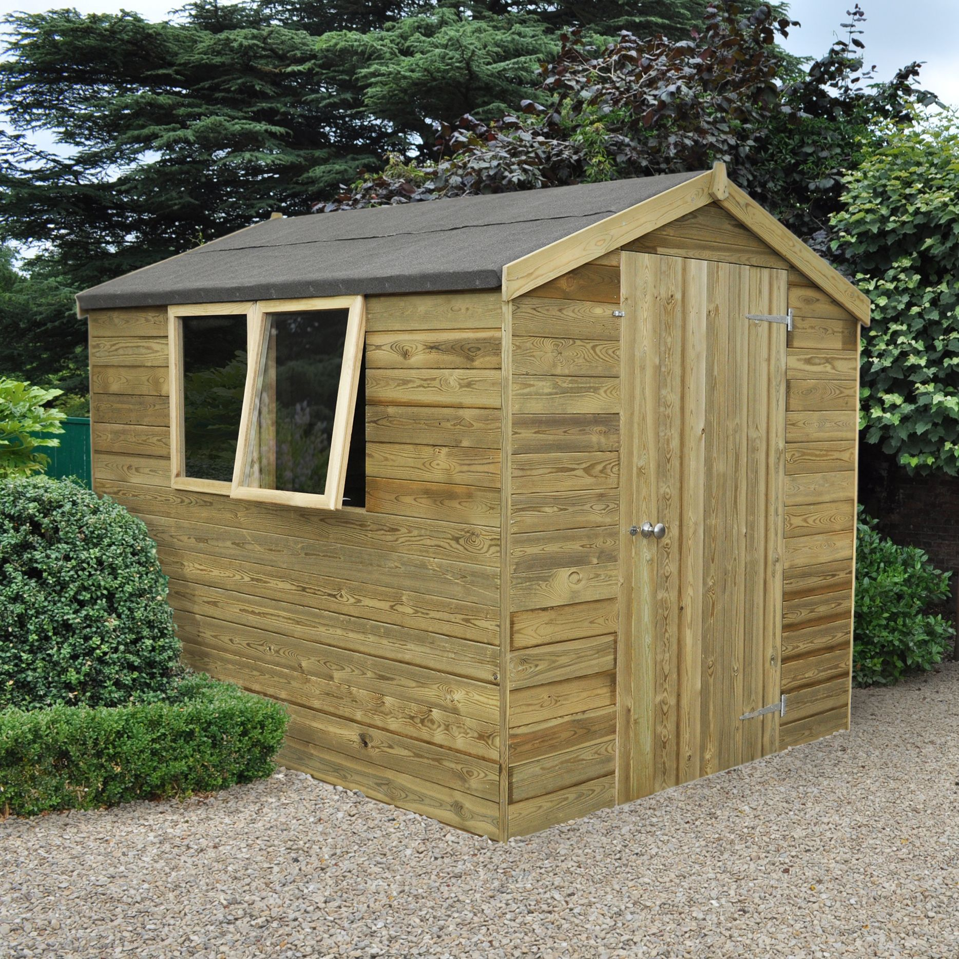 8X6 Apex Tongue & Groove Wooden Shed with Assembly Service