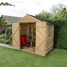7 X5 Apex Overlap Wooden Shed with Assembly