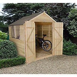 7 X7 Apex Overlap Wooden Shed with Assembly
