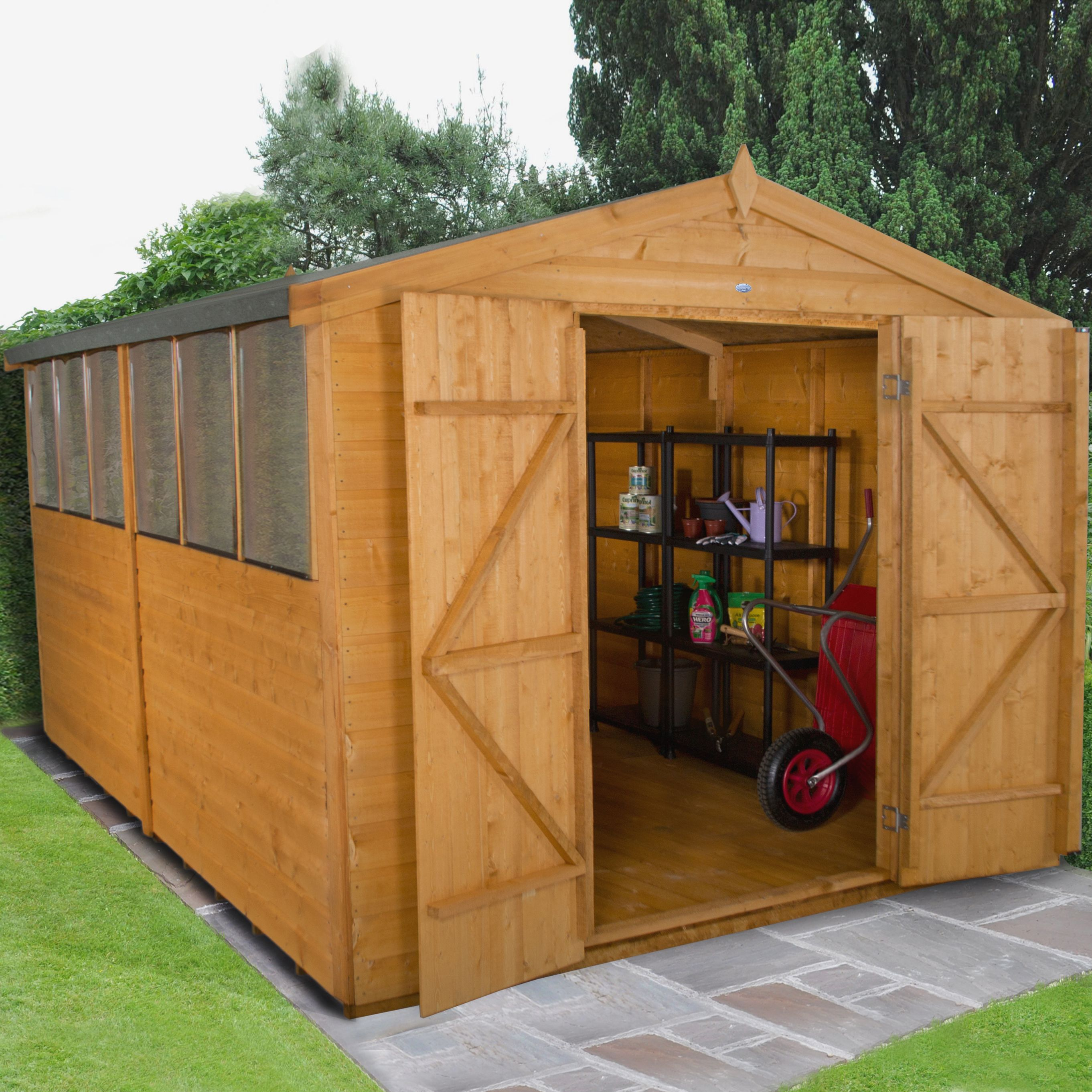 12x8 Forest Apex Shiplap Wooden Shed