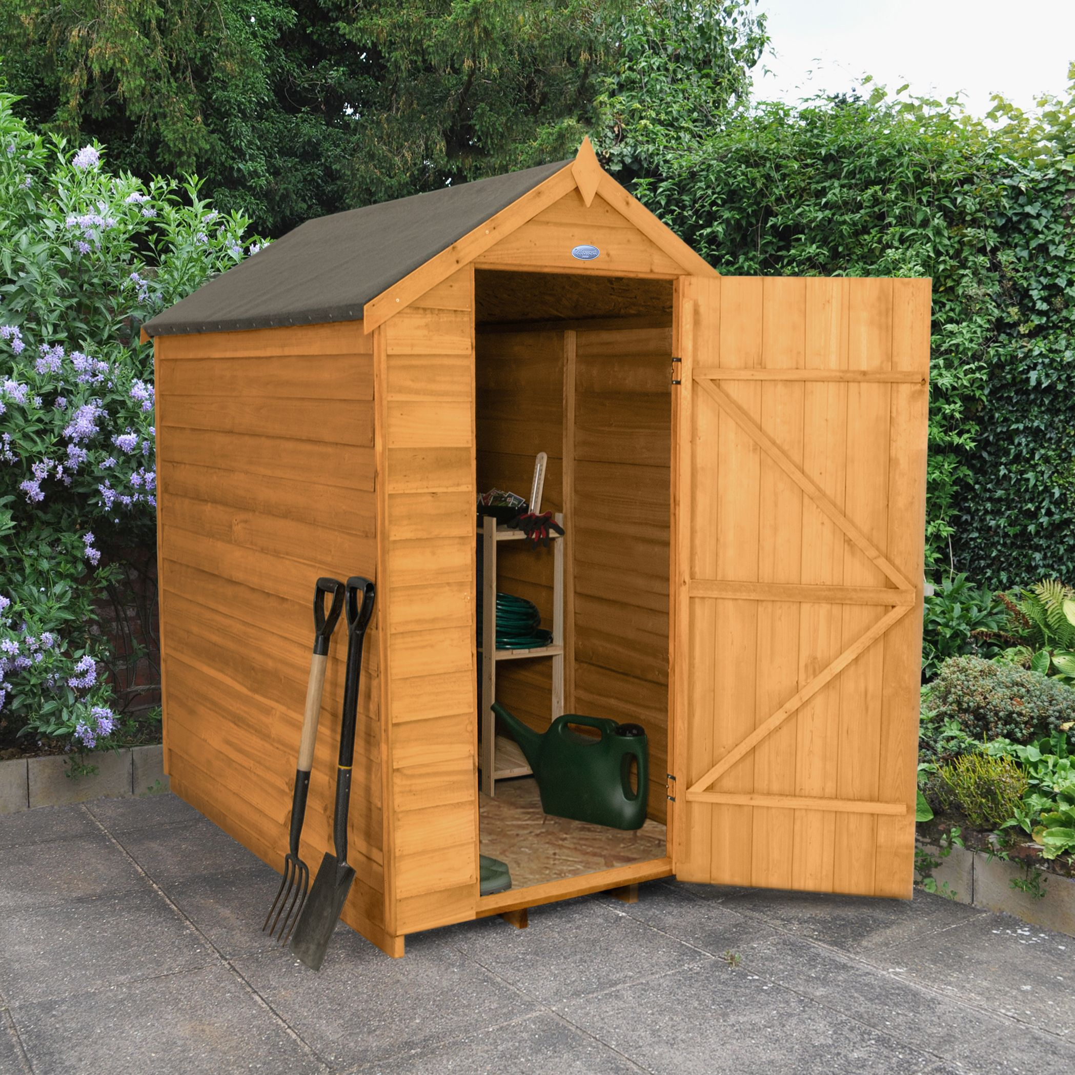 6x4 apex overlap wooden shed base included departments for Garden shed 6x4