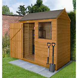 6X4 Reverse Apex Overlap Wooden Shed