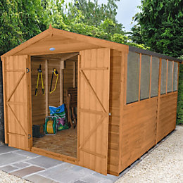 12X8 Forest Apex Overlap Wooden Shed
