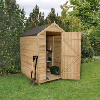 6x4 apex overlap wooden shed with assembly service for Garden shed 6x4