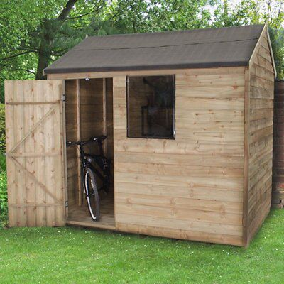 8X6 Reverse Apex Overlap Wooden Shed