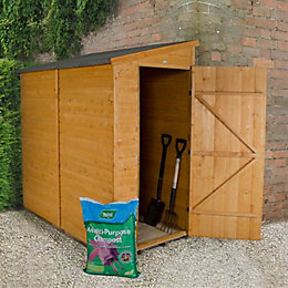 6X3 Pent Shiplap Wooden Shed with Assembly Service