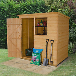 6X4 Pent Shiplap Wooden Shed with Assembly Service