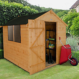 6X8 Apex Shiplap Wooden Shed with Base