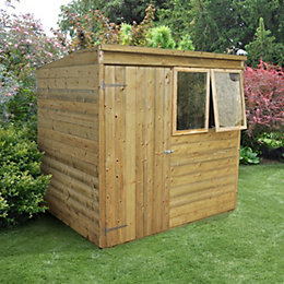 7X5 Pent Tongue & Groove Wooden Shed
