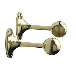 Colorail Brass Effect End Bracket (Dia)19mm, Pack of