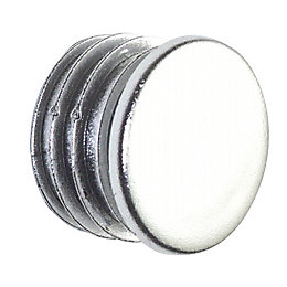 Colorail Plastic Chrome Effect End Cap, Pack of
