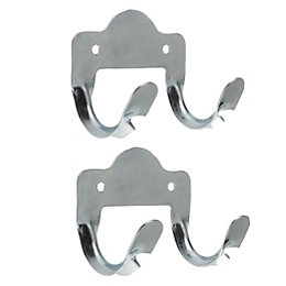 Rothley Steel Tool Storage Hooks, Pack of 2