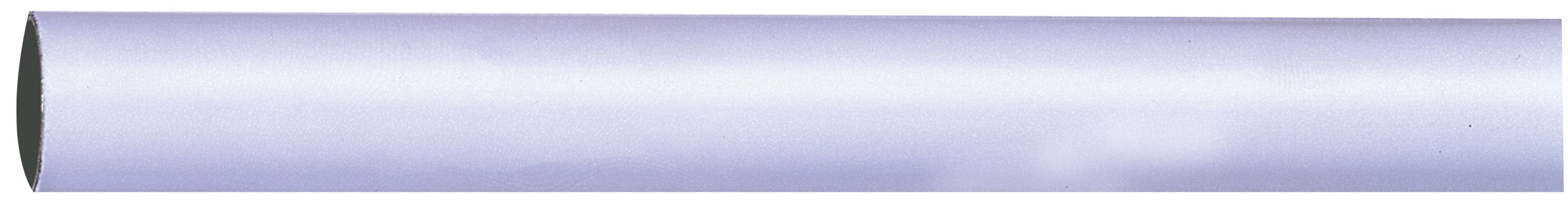 Colorail White Steel Round Tube (l)1.829m