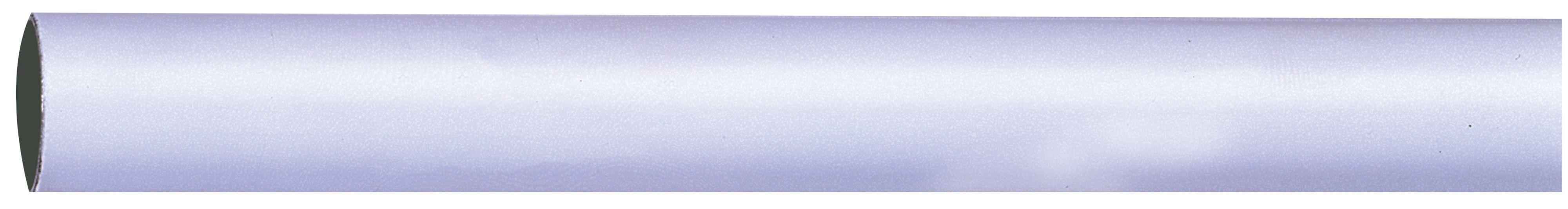 Colorail White Steel Round Tube (l)2.438m