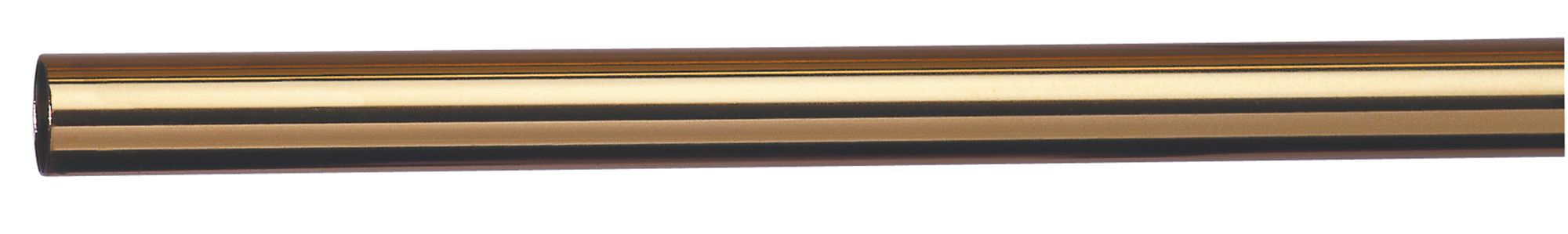 Colorail Brass Effect Steel Round Tube (l)2.4m