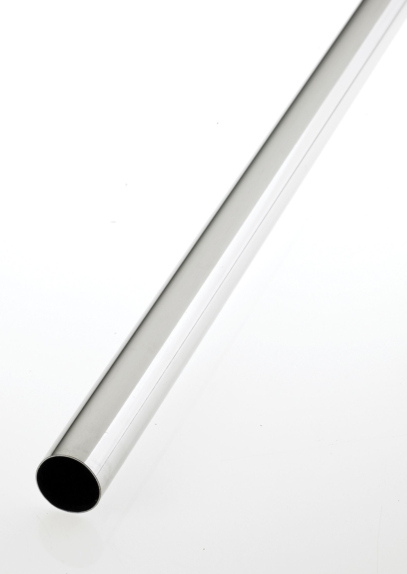 Colorail Chrome Effect Steel Round Tube (l)0.914m