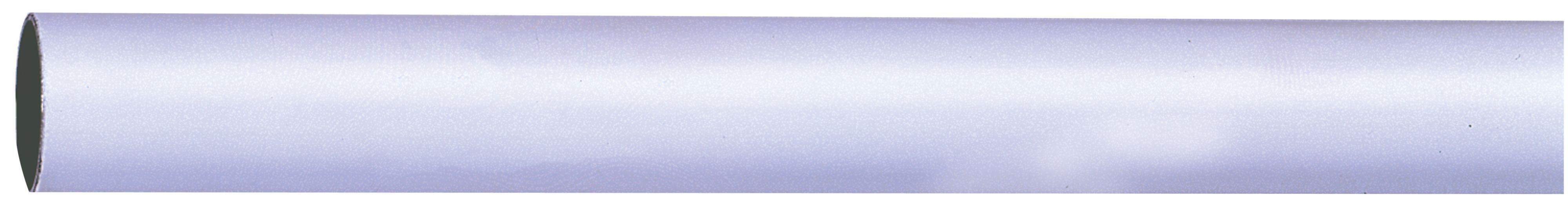 Colorail White Steel Round Tube (l)1.2m
