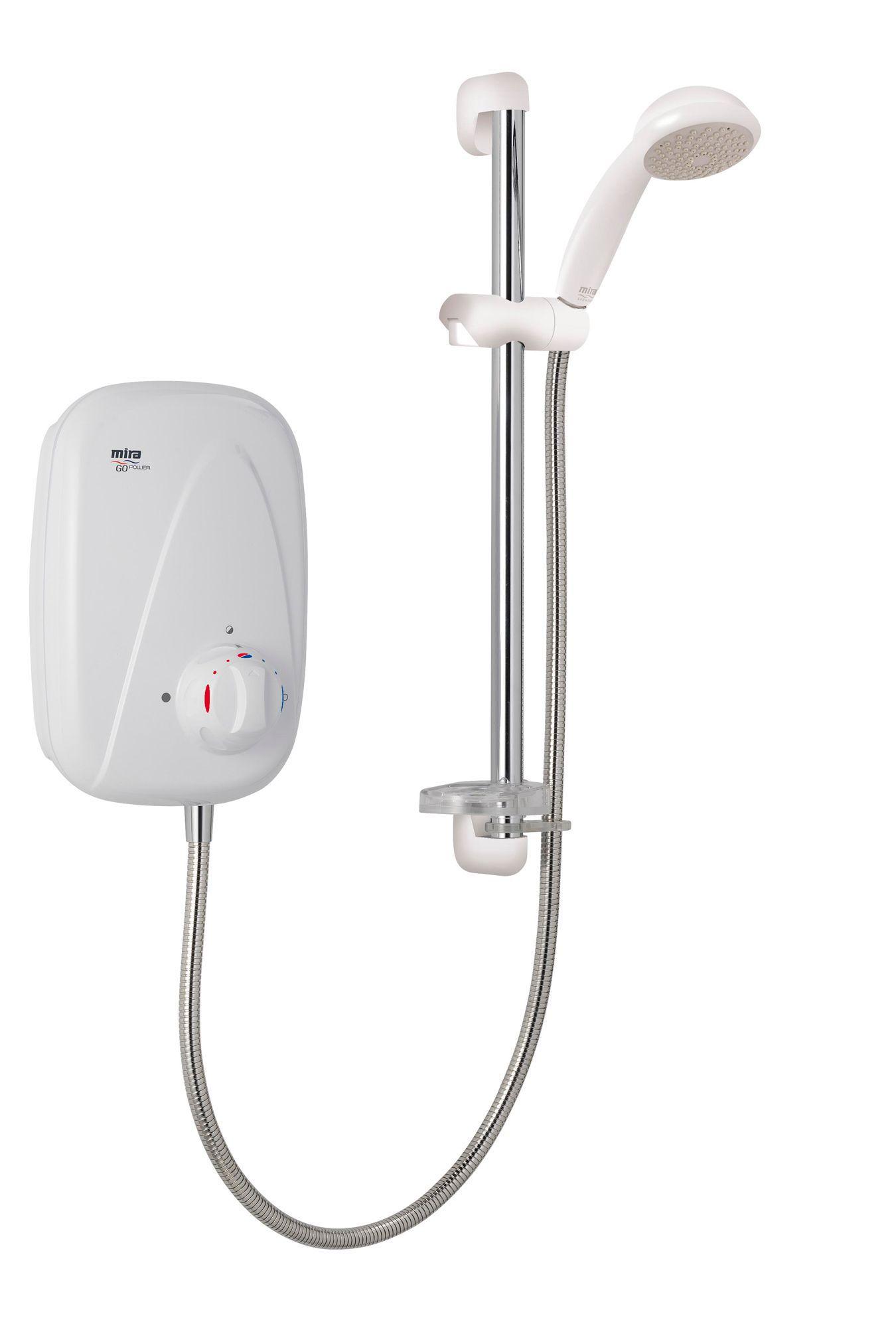 Mira Go Manual Power Shower, White