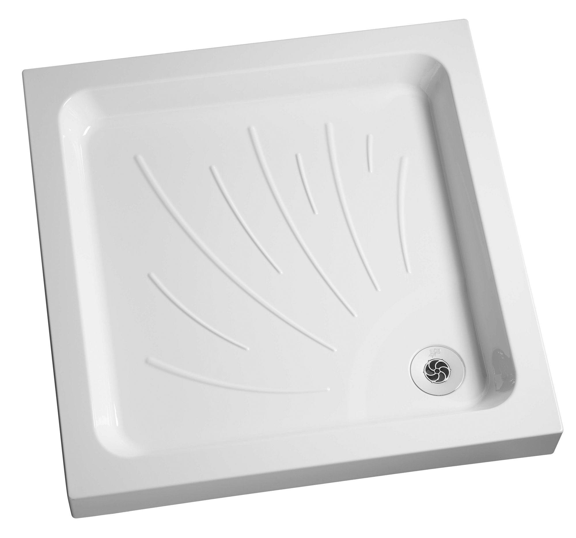 Flight Bathroom Door: Mira Flight Square Shower Tray & Riser Kit (L)760mm (W