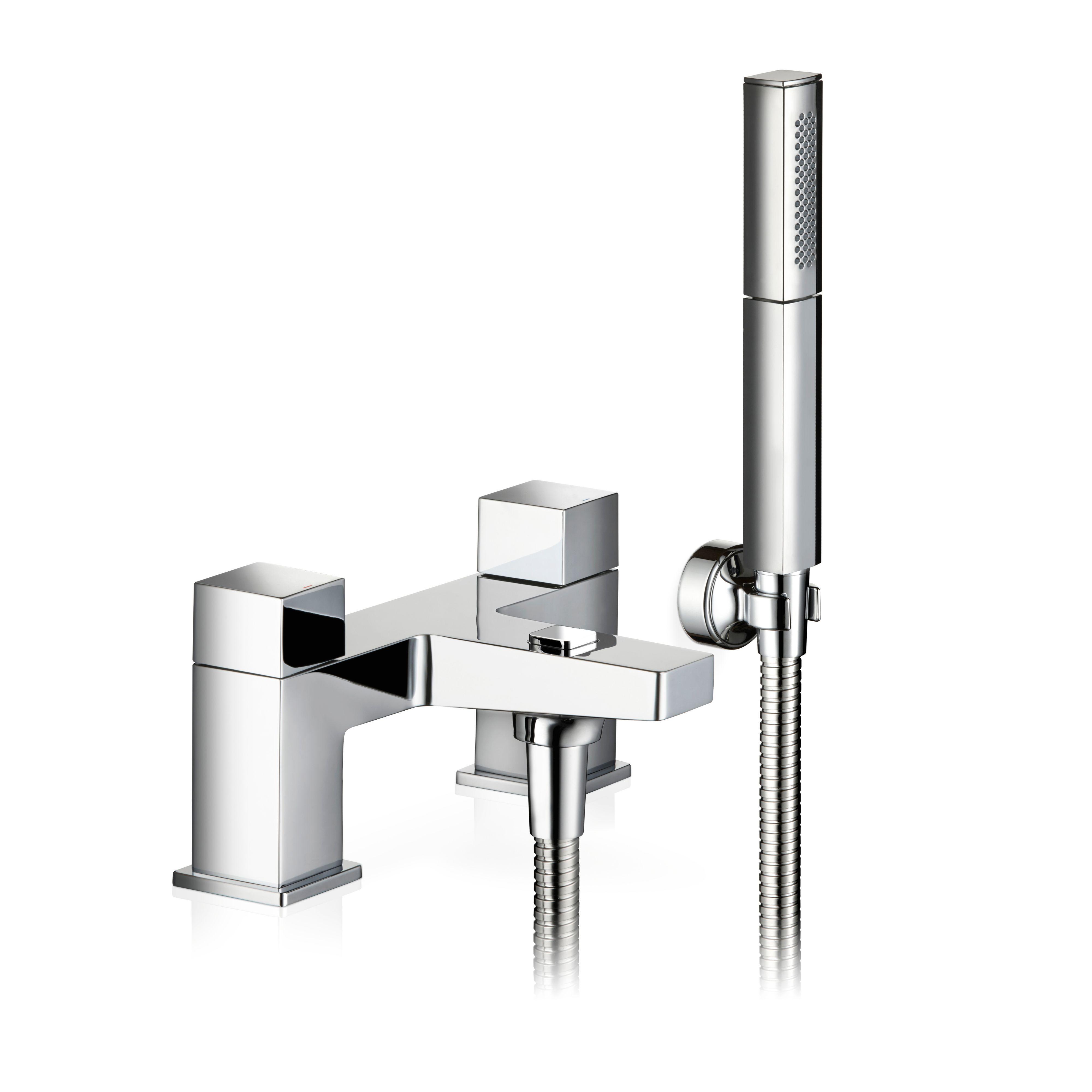mira honesty chrome bath shower mixer tap departments diy at b q