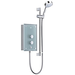 Mira Azora 9.8kW Electric Shower, Frosted Glass