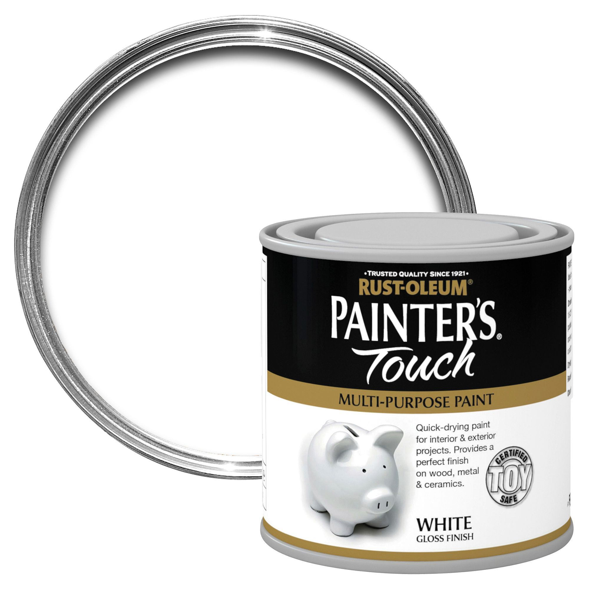 Rust-oleum Painter's Touch Interior & Exterior White Gloss Multipurpose Paint 250ml