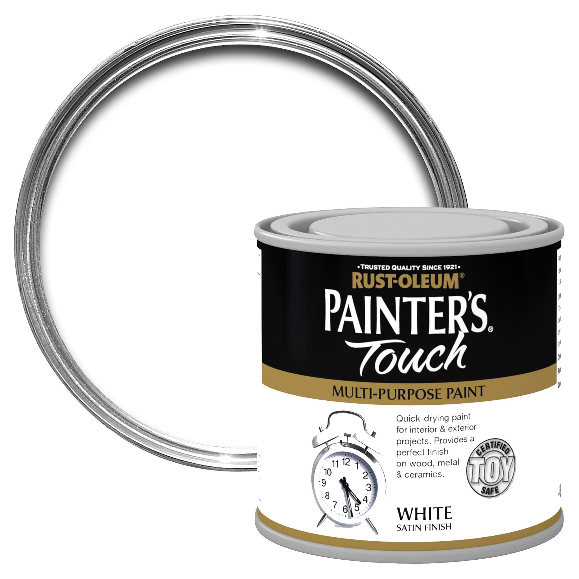 Rust-oleum Painter's Touch Interior & Exterior White Satin Multipurpose Paint 250ml