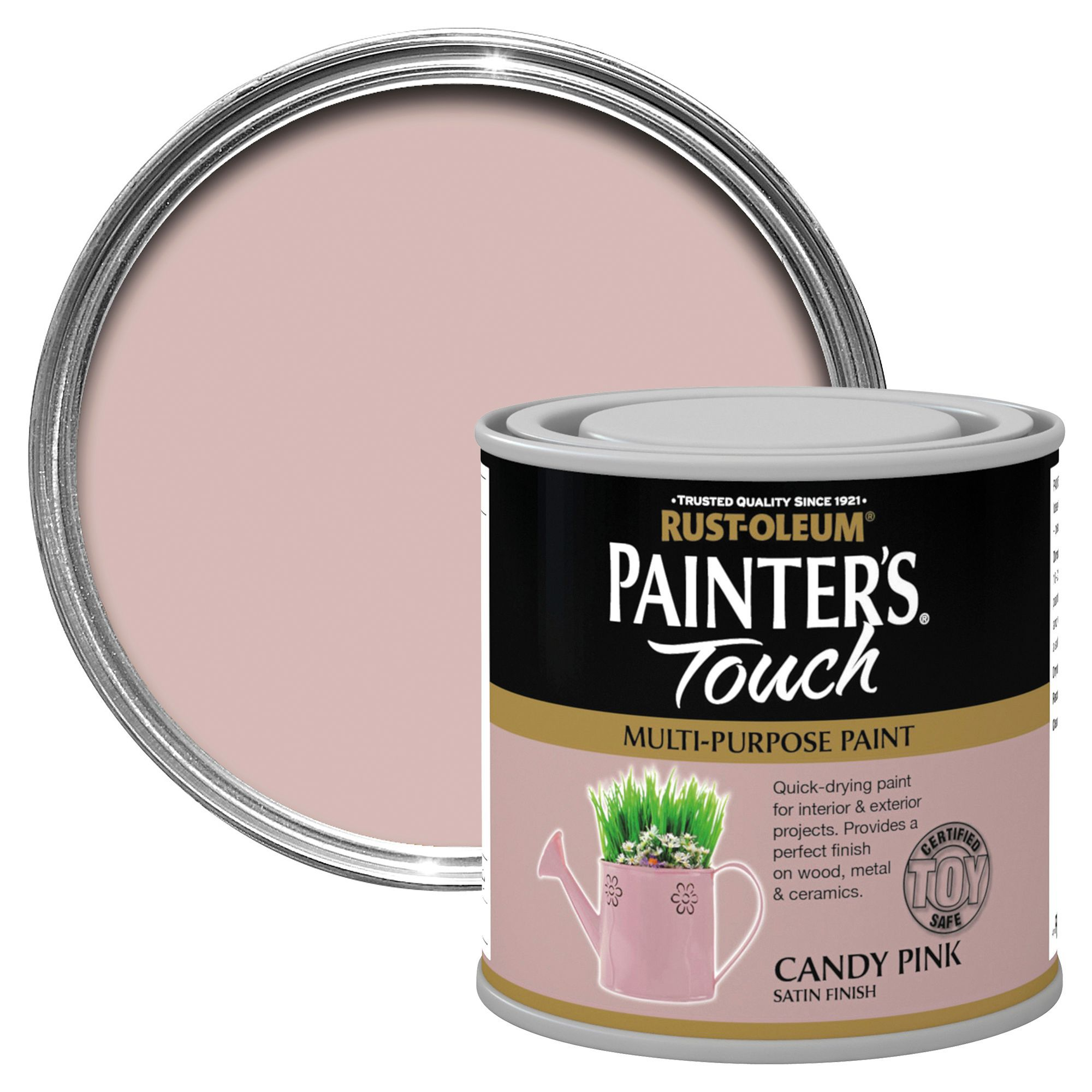Rust-oleum Painter's Touch Interior & Exterior Candy Pink Gloss Multipurpose Paint 250ml