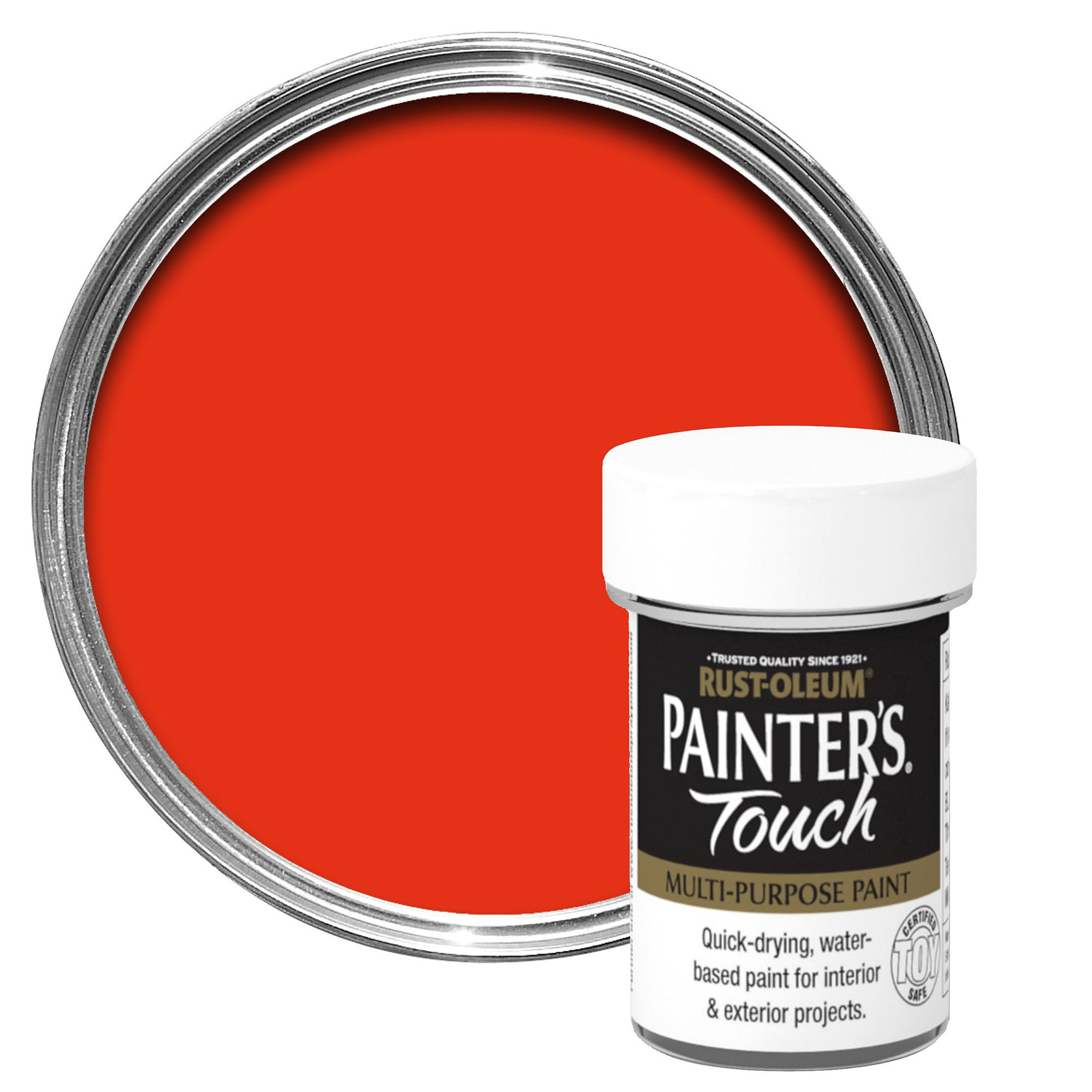 Rust-oleum Painter's Touch Interior & Exterior Bright Orange Gloss Multipurpose Paint 20ml