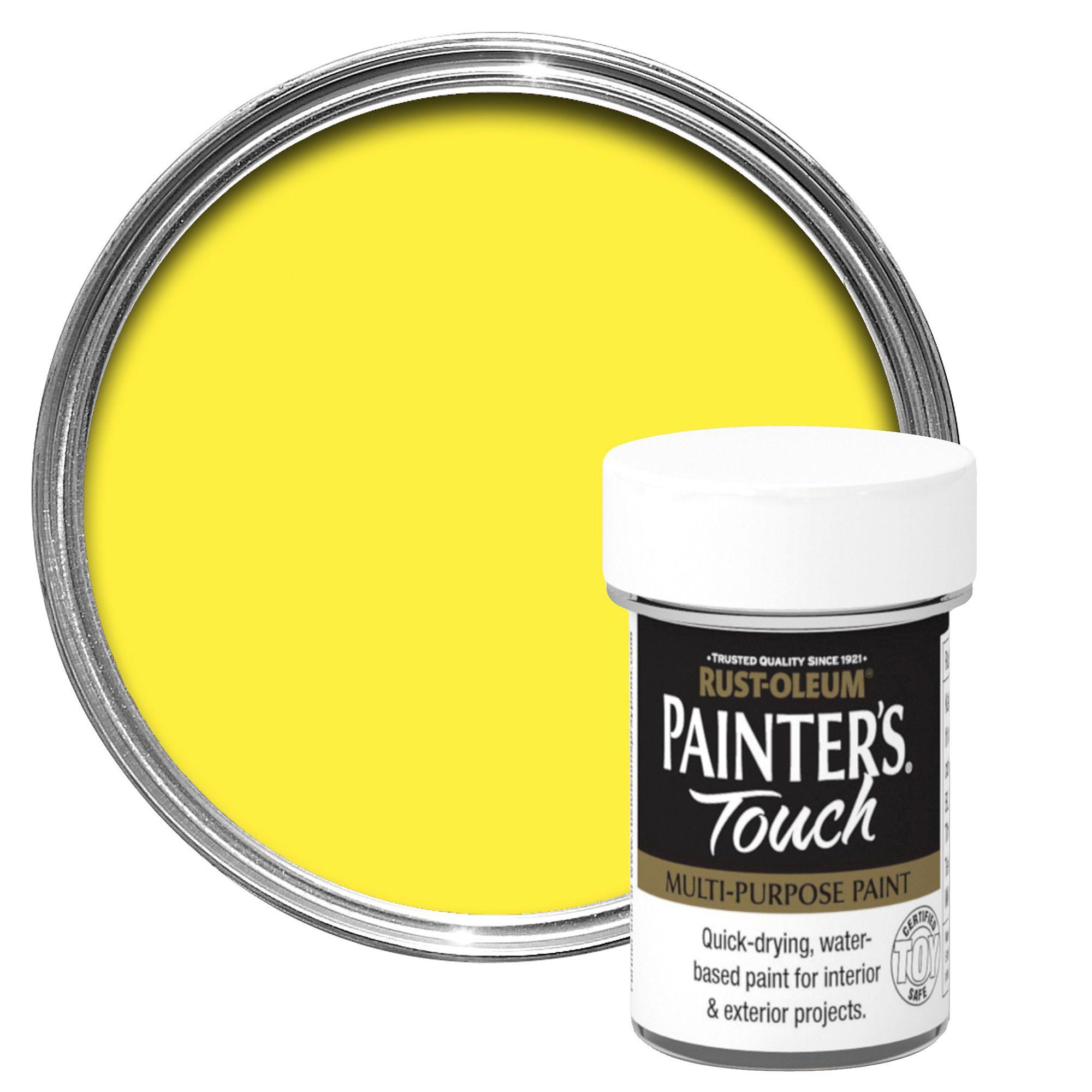 Rust-oleum Painter's Touch Interior & Exterior Bright Yellow Gloss Multipurpose Paint 20ml