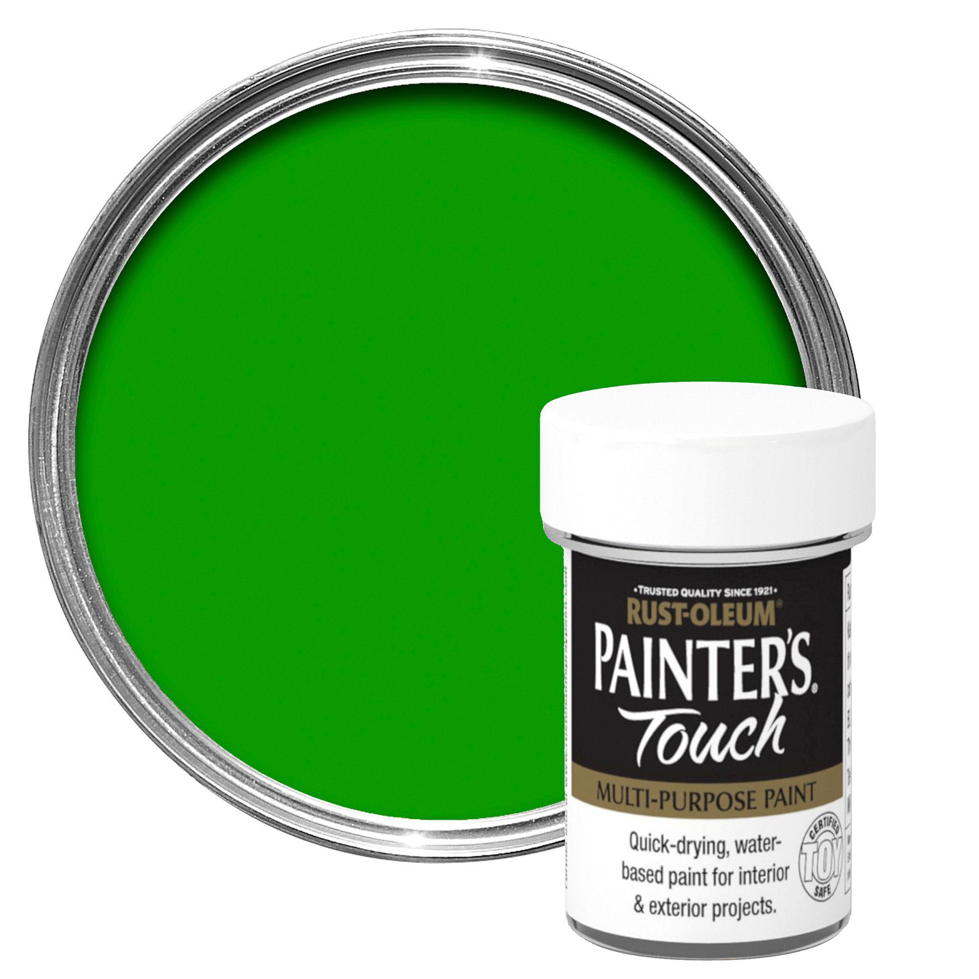 Rust-Oleum Painter's Touch Interior & Exterior Bright Green Gloss Multipurpose Paint 20ml