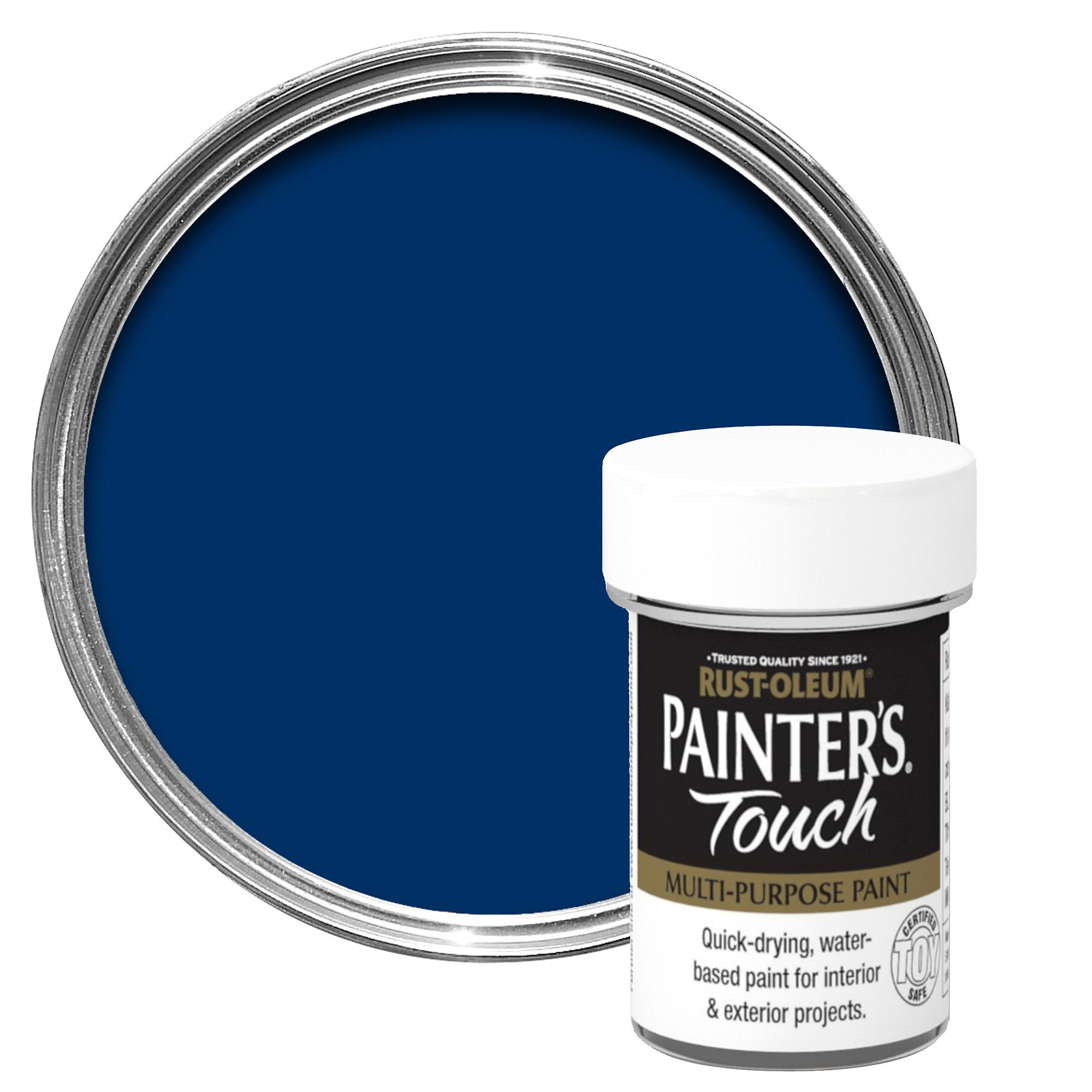 Rust-oleum Painter's Touch Interior & Exterior Dark Blue Gloss Multipurpose Paint 20ml
