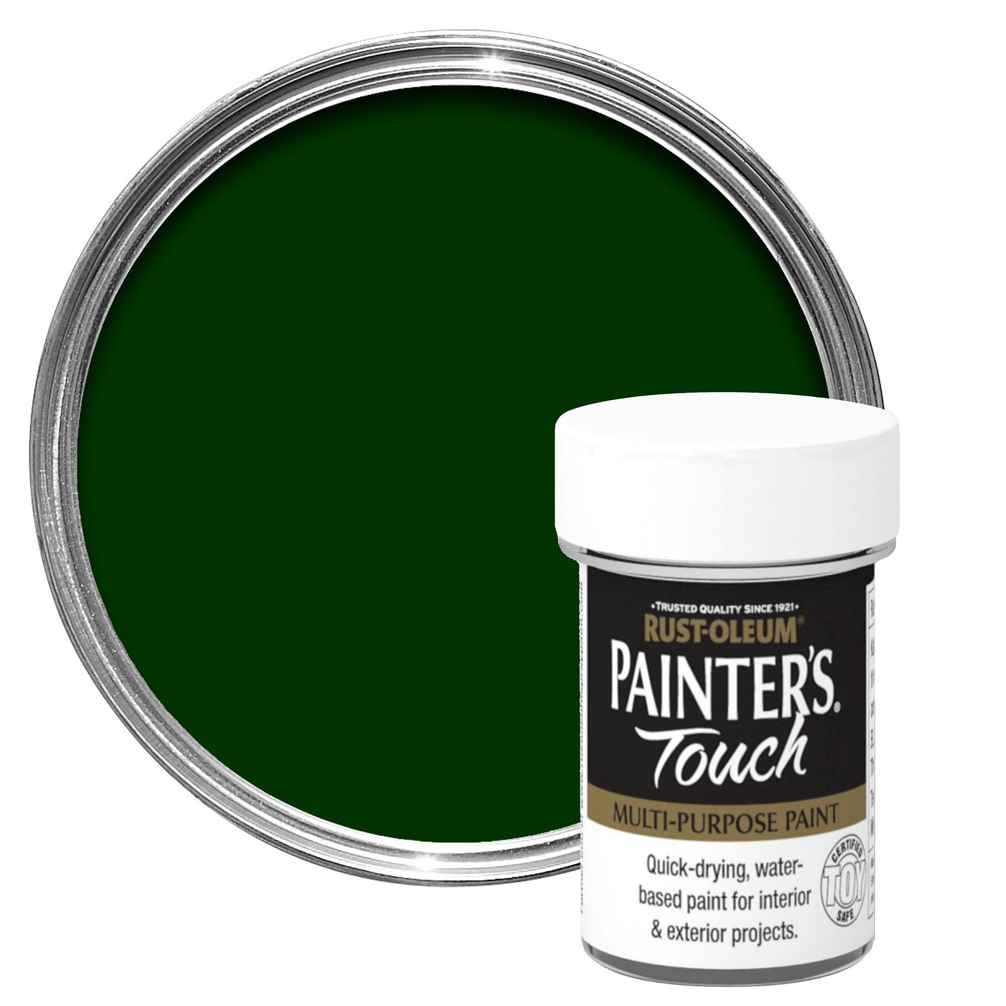 Rust-oleum Painter's Touch Interior & Exterior Dark Green Gloss Multipurpose Paint 20ml