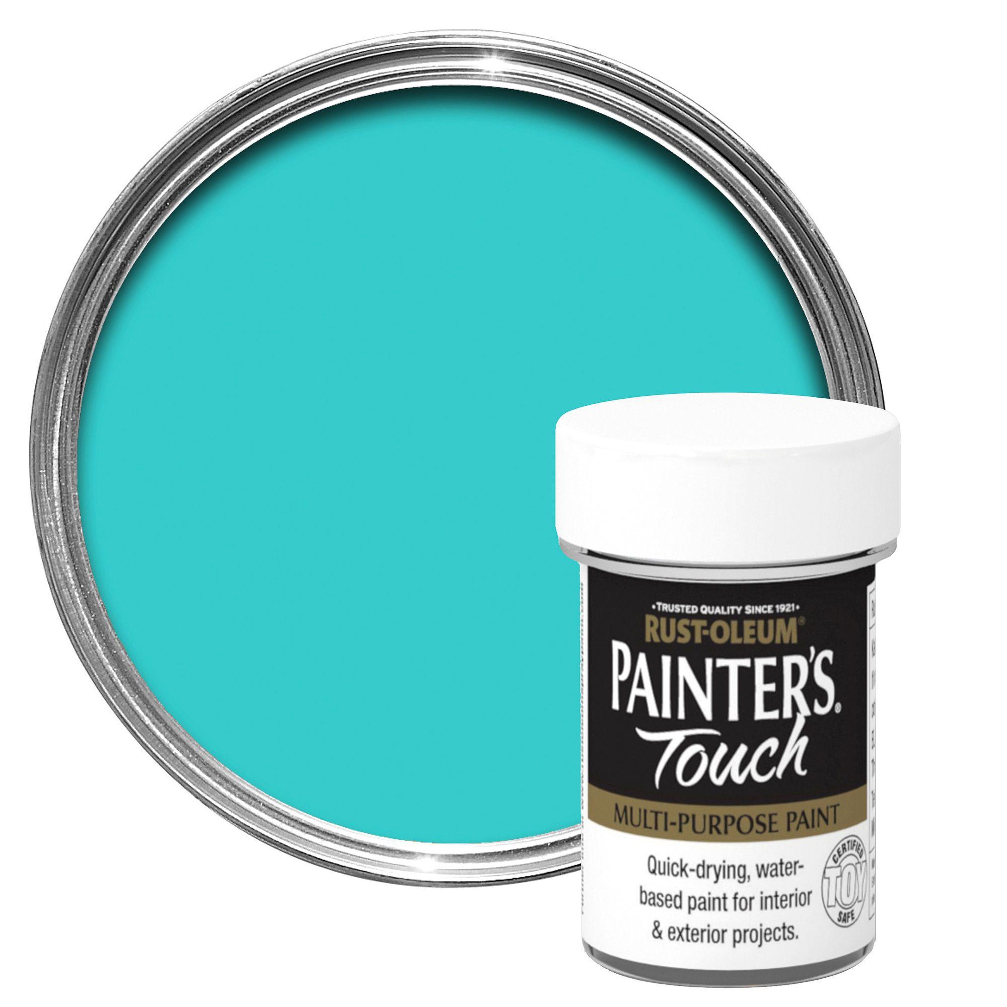Rust-oleum Painter's Touch Interior & Exterior Aqua Gloss Multipurpose Paint 20ml